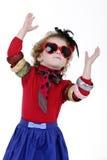 Petite fille espiègle Images stock