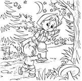 Petite fille et garçon Images libres de droits