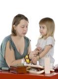 petite fille et momie Photographie stock libre de droits