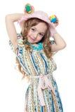 Petite fille et oeufs de pâques Photo libre de droits