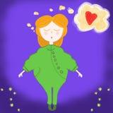 Petite fille et son rêve Photo stock
