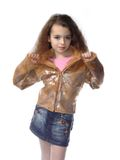 Petite fille exprimant le modèle de photo Photographie stock