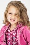 Petite fille fâchée Photographie stock libre de droits