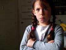 Petite fille fâchée Image libre de droits