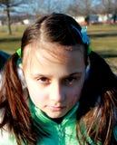 Petite fille fâchée Images libres de droits