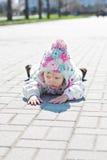 Petite fille fâchée d'enfant en bas âge photos libres de droits