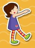 Petite fille faisant la pose idiote Images libres de droits