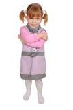 Petite fille fâchée Images stock