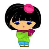 Petite fille. gosse de dessin animé Images libres de droits