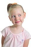 Petite fille heureuse rêvant de quelque chose Photos libres de droits