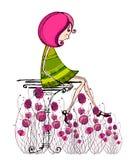 Petite fille illustrée Image stock