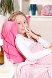 Petite fille malade Photo libre de droits