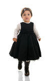 Petite fille marchant vers l'appareil-photo Photo libre de droits