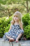 Petite fille mignonne Photographie stock