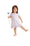 Petite fille mignonne avec la fleur Photo stock