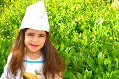 Petite fille mignonne costumée Image libre de droits