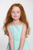 Petite fille mignonne de six ans Photographie stock
