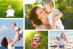 Petite fille mignonne sur le pré Photo stock