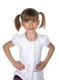Petite fille montrant son espace de dent Images stock
