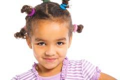Petite fille noire Photo stock