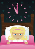Petite fille obtenue l'insomnie Photo libre de droits