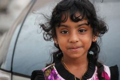Petite fille omanaise Photo libre de droits