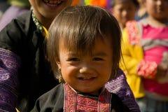 Petite fille pendant le festival du marché d'amour au Vietnam Photographie stock libre de droits