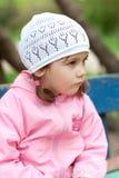 Petite fille pensive Image libre de droits