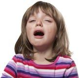Petite fille pleurante image libre de droits