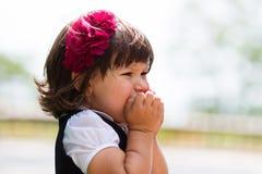 Petite fille pleurante Images libres de droits