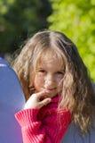 Petite fille rêveuse Image libre de droits