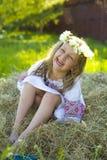 Petite fille riante Photographie stock