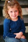 Petite fille rousse préscolaire Photographie stock
