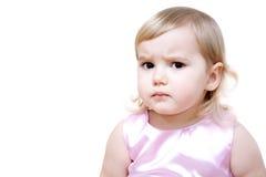 Petite fille sérieuse photos libres de droits
