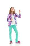 Petite fille se dirigeant vers le haut Photo libre de droits