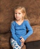 Petite fille solennelle Photo libre de droits