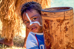 Petite fille sur l'île des pins, Nouvelle-Calédonie Image stock