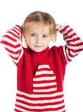 Petite fille sur le chandail rayé Images stock