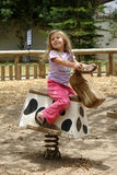 Petite fille sur le cheval Photographie stock