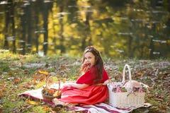 Petite fille sur le pique-nique Photographie stock