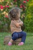 Petite fille têtue Photos libres de droits