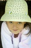 Petite fille timide Image libre de droits