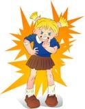 Petite fille très fâchée Image libre de droits
