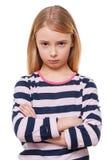 Petite fille triste. images stock