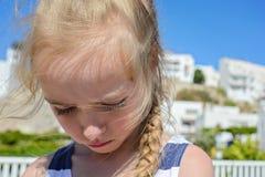 Petite fille triste Image libre de droits