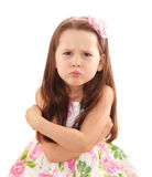 Petite fille vilaine Photographie stock