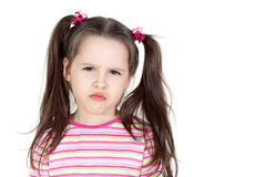 Petite fille vilaine Images stock