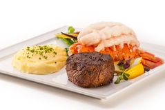 Petite Fillet and Lobster Stock Photography