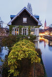 Petite-France architecture. At dusk. Strasbourg, Alsace, France Stock Photo