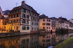 Petite-France architecture. Strasbourg, Alsace, France Royalty Free Stock Photos